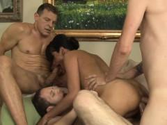 Ladyboy gets double anal