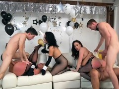 Hot Chicks Get Impaled By Hung Rich Studs