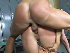 throwback: one of the curviest all natural sluts getting rough doggy fucked in locker room!!!