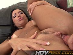 Brunette Monica Santhiago Deepthroat and Anal Fuck