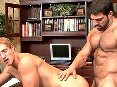 juicy gay gets ass fucked in the office