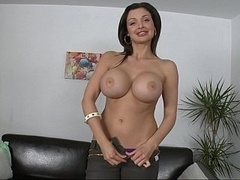 Aletta Ocean posing and plus giving a blowjob