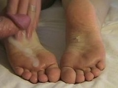 Triple Cum Footjob