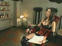 Japanese Dominatrix Nana Bullwhipping (mosaic)
