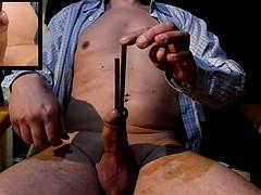 2 sticks full of cock inside baguettes insert ejac diploma
