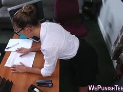 Teen intern gets punished