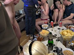 sexy friends persuaded for group orgy