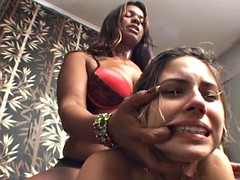 slave girl punished and humiliated by black mistress