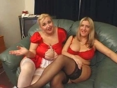 British Big beautiful women Three-way