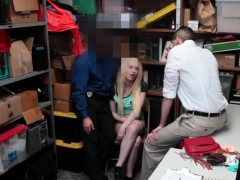 Hot blonde teen punished with fat dick