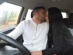 Milf examiner fucks male driving student