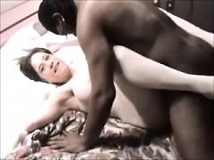 Amateur interracial threesome