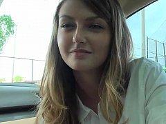 フェラチオ, 車, カップル, カワイイ, 彼女, 天然, 生徒, ティーン