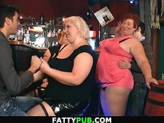 Big tits women get dirty in the bar