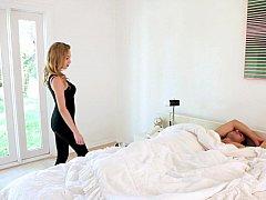 Américain, Chambre à dormir, Blonde, Famille, Cuisine, Chatte, Soeurs, Adolescente