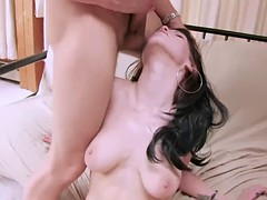 Young Janessa has pussy and mouth fucked at the same time by two dicks