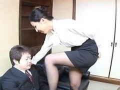 Japanese office ladie bangs a dude