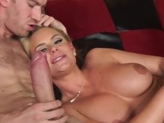 Mature blonde is having fun with daughter's ex-love