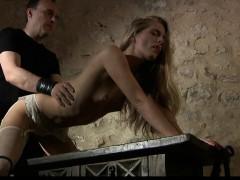 Hard slave fuck in rough bdsm bondage sex