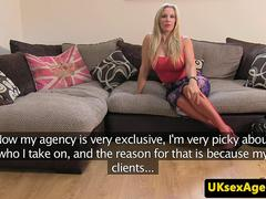 Real casting session with busty MILF