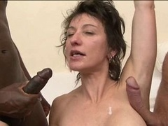 Double backdoor for French MILF Zaza