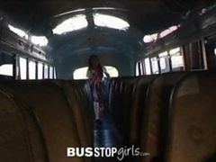 18-19 y.o. Amia Miley Gets Fucked By Bus Mechanic
