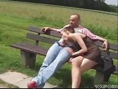 outdoor bang, german couple have fun