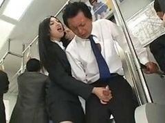 バス, 手コキする