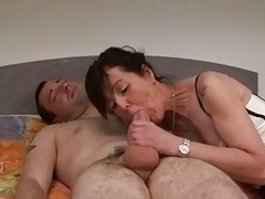 Excited french cougar has backdoor sex