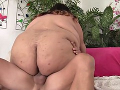 Asian SSBBW fucked in cowgirl position