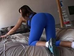 Checking Lisa's large Butt