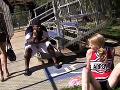 Allie James and Erica Lauren Discovers Black Cock
