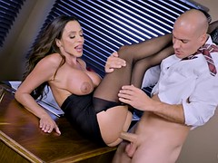 bigtitted ceo ariella ferrera gets banged on the office desk