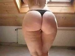 Sexy Blonde in High Heels Shows Off Her Curvy Booty