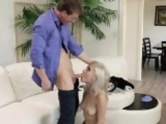 Hot blonde gets her pussy checked