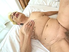 flabby time worn euro granny malya gets laid with 18 years old boy