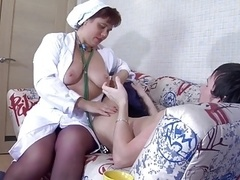 Plunp nurse with wide booty and besides lad