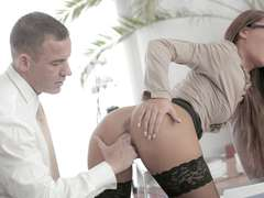 Gorgeous office girl Alexis Brill banged
