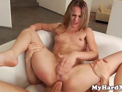 Centerfold rough DPed in gonzo threesome
