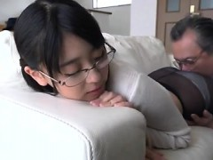Sexy Japanese Asian Amateur long hair sister