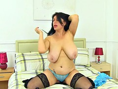 uk milf sabrina jade will please you with her big hangers