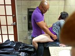 Shopping Mall family restroom fucking