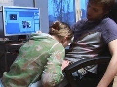 germanian teenagers have an intercourse in the office