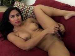 Exotic Mia Li Solo Masturbating