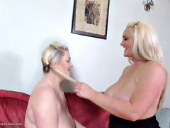 Big busty mom having sex with big busty daughter