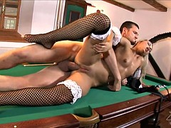 Pussy Creamed On The Pool Table - Sabrina