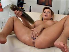 Big butt huge tits and brutal dildo