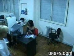 Latin Office Make love Caught By Spycam