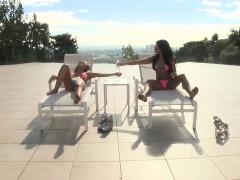 TEENGONZO Carter Cruise and Adriana Chechic threesome sex