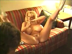 sexy blonde huge tits stripper fucked and cummed on her juicy watermelons!
